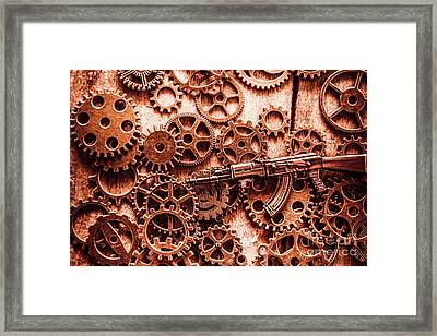 Guns Of Machine Mechanics Framed Print by Jorgo Photography - Wall Art Gallery