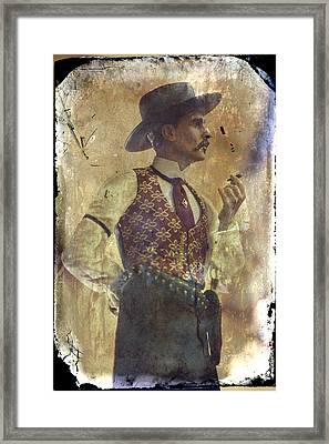 Gunslinger IIi Doc Holliday In Fine Attire Framed Print by Toni Hopper