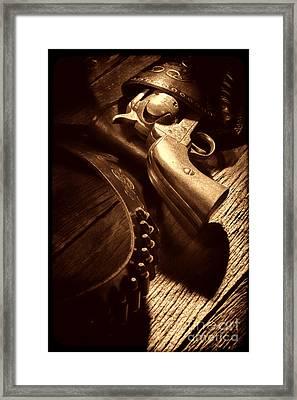 Gunslinger Tool Framed Print by American West Legend By Olivier Le Queinec