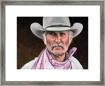 Gus Mccrae Texas Ranger Framed Print by Rick McKinney
