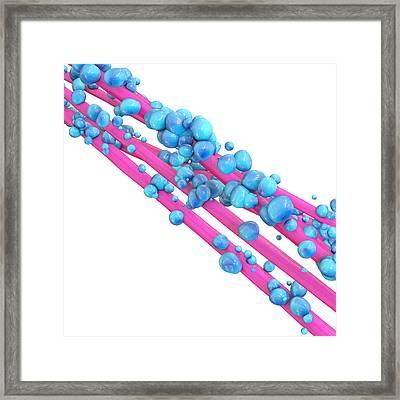 Gut Bacteria - 3d Rendered Illustration Framed Print by Xt Render