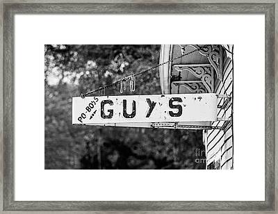 Guy's Framed Print by Scott Pellegrin