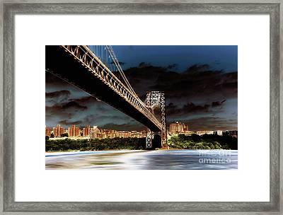 GWB Framed Print by Arnie Goldstein