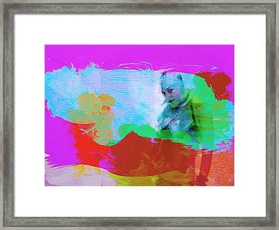 Gwen Stefani Framed Print by Naxart Studio