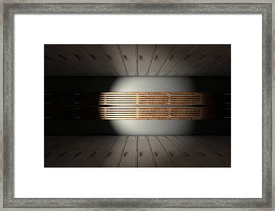 Gym Locker Row New Framed Print by Allan Swart