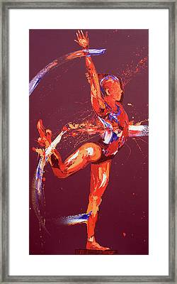 Gymnast Nine Framed Print by Penny Warden