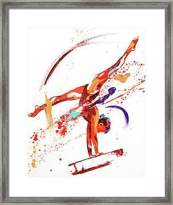 Gymnast One Framed Print by Penny Warden