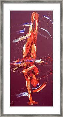 Gymnast Six Framed Print by Penny Warden