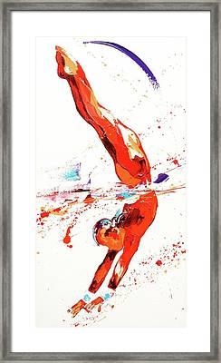 Gymnast Three Framed Print by Penny Warden