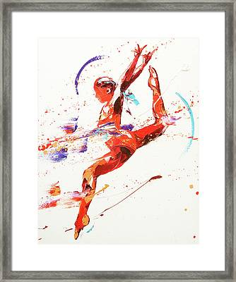 Gymnast Two Framed Print by Penny Warden