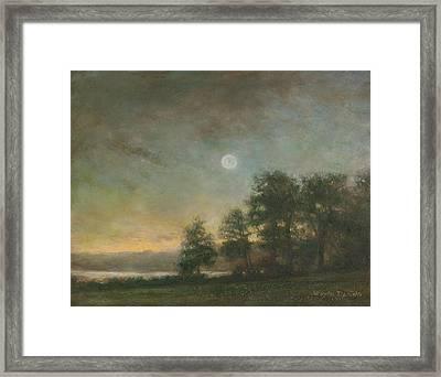 Gypsy Bay Moonlight Framed Print by Wayne Daniels