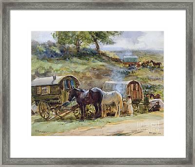Gypsy Encampment Framed Print by John Atkinson