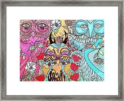 Gypsy Owl Framed Print by Amy Sorrell