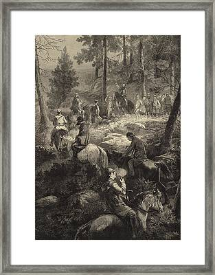 H R H The Prince Of Wales Deer Stalking  Framed Print by Mihaly von Zichy