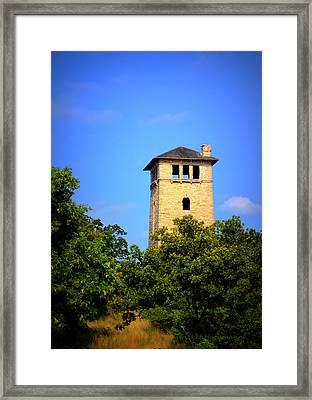 Ha Ha Tonka State Park - Water Tower Framed Print by Cricket Hackmann