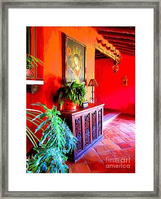 Hacienda By Darian Day Framed Print by Mexicolors Art Photography