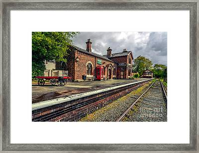 Hadlow Road Railway Station Framed Print by Adrian Evans