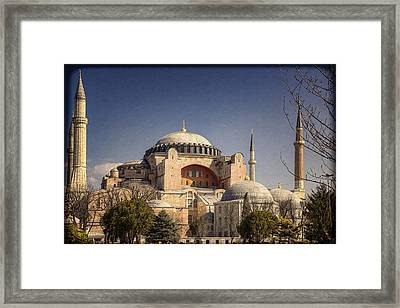 Hagia Sophia Framed Print by Joan Carroll