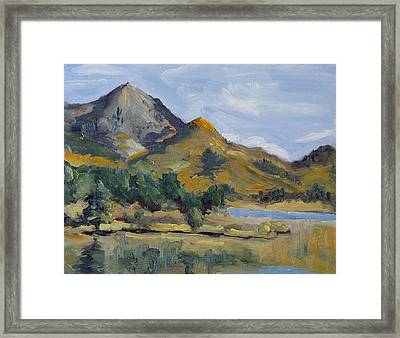 Hahns Peak From Rainbow Point Steamboat Lake State Park Colorado Framed Print by Zanobia Shalks