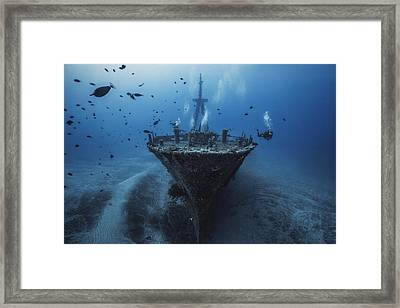 Underwater Diva Framed Print featuring the photograph Hai Siang Wreck by Barathieu Gabriel