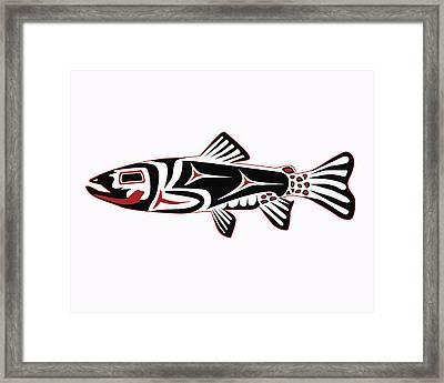 Haida Trout Framed Print by Rob Tullis