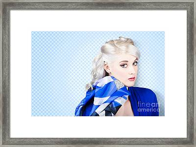 Hair And Beauty Fashion Portrait Framed Print by Jorgo Photography - Wall Art Gallery