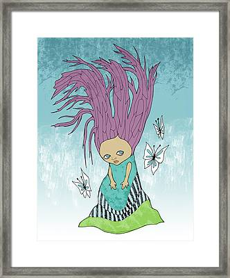 Hair Is A Tree Framed Print by Lindsey Cormier