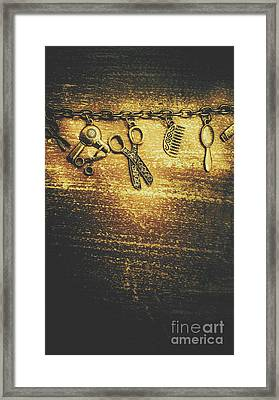 Hairdressing Beauty Salon Background Framed Print by Jorgo Photography - Wall Art Gallery