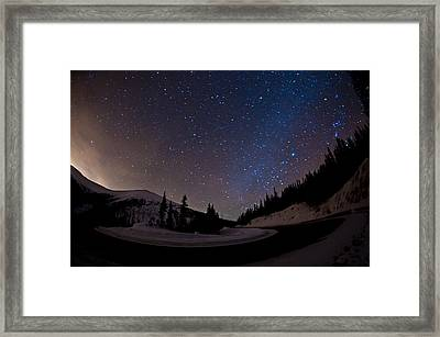 Hairpin For The Stars Framed Print by Mike Berenson / Colorado Captures
