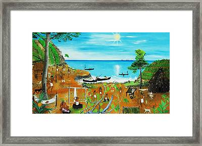 Haiti 1492 Before Christopher Columbus Framed Print by Nicole Jean-Louis