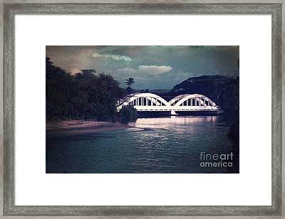 Haleiwa Bridge Framed Print by Paul Topp