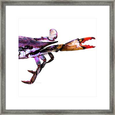 Half Crab - The Right Side Framed Print by Sharon Cummings
