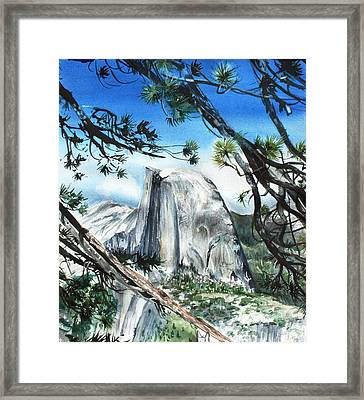 Half Dome In The Late Afternoon Framed Print by Kate Peper