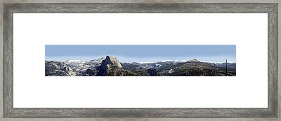 Half Dome Panorama Framed Print by Bransen Devey