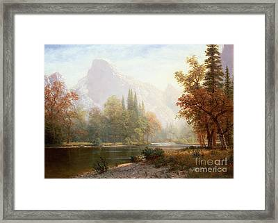 Half Dome Yosemite Framed Print by Albert Bierstadt