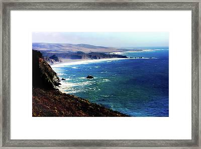 Half Moon Bay Framed Print by Karen Wiles