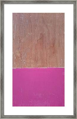Half Pink Half Wood Framed Print by Helene Smith