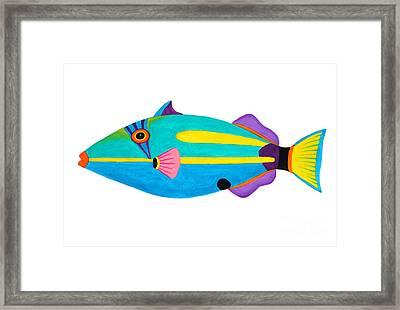 Halfmoon Triggerfish  Framed Print by Opas Chotiphantawanon