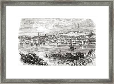 Halifax, Nova Scotia, Canada In The Framed Print by Vintage Design Pics