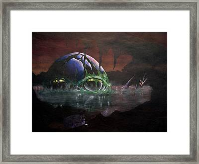 Hall Of Doom Framed Print by Marcus Quinn