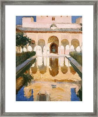 Hall Of The Embassadors Alhambra Granada Framed Print by Joaquin Sorolla y Bastida