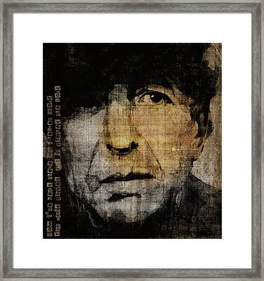 Hallelujah Leonard Cohen Framed Print by Paul Lovering