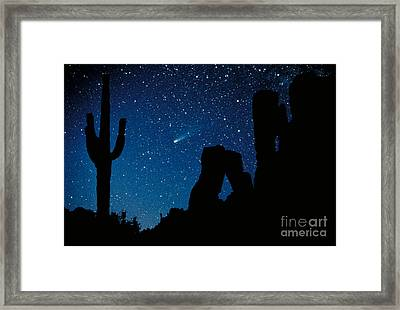 Halley's Comet Framed Print by Frank Zullo