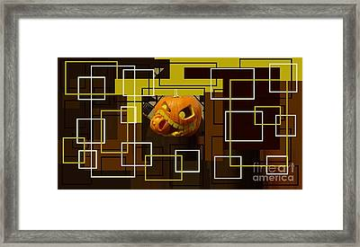 Halloween Digital Collage Framed Print by Catherine Lott