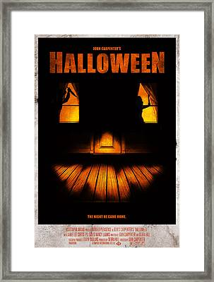 Halloween Alternative Movie Poster Framed Print by Christopher Ables