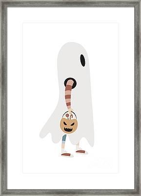 Halloween Cartoon 13 Framed Print by Pablo Romero
