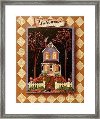 Halloween Hill Framed Print by Catherine Holman