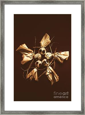 Halloween Horror Dolls On Dark Background Framed Print by Jorgo Photography - Wall Art Gallery