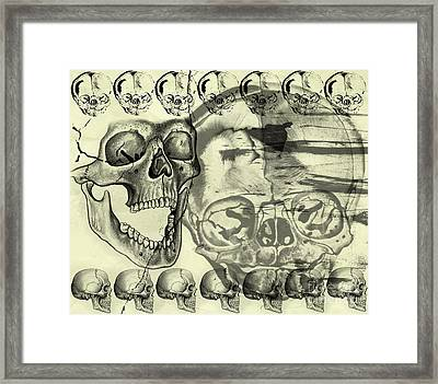 Halloween In Grunge Style Framed Print by Michal Boubin