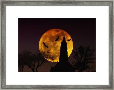 Halloween Moon Framed Print by Bill Cannon